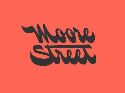 Moore Street logotype logo ligature typography script type lettering street moore