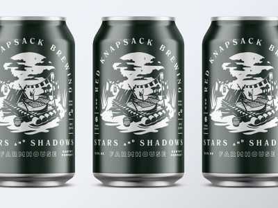Redknapsack Farmhouse Cans riverboat raft illustration packaging beer branding can design beer can beer farmhouse