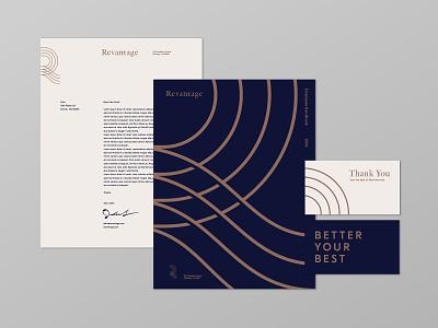 Revantage Print Design print stationary brand pattern pattern identity design identity