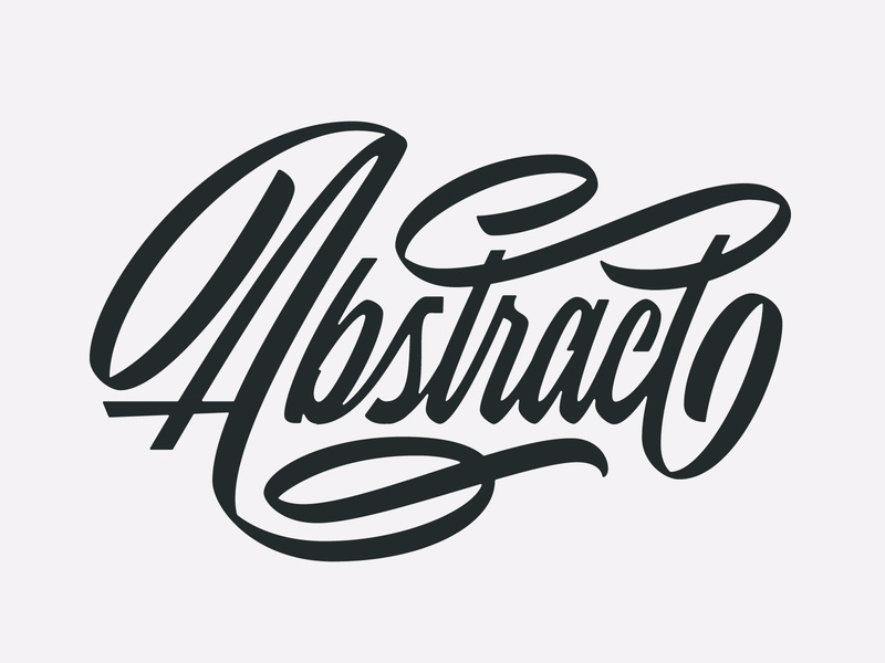 Abstract Script brush lettering brush pen flourish ligature handlettering lettering type script abstract