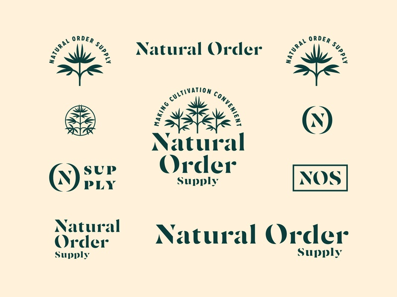 Natural Order Supply cannabis hemp logotype stencil branding and identity visual identity branding supply natural order order natural