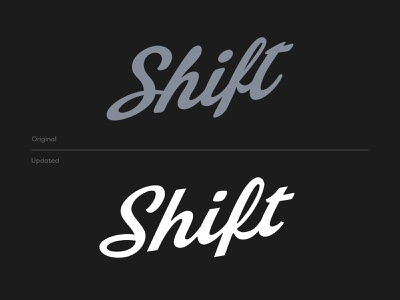 Shift Logotype Refresh logo typography logotypes before and after script cannabis logo logotype cannabis