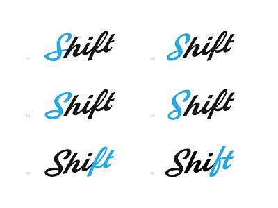 Shift Logotype Variations lettering ligatures ligature typogaphy type script logotype logo cannabis logo