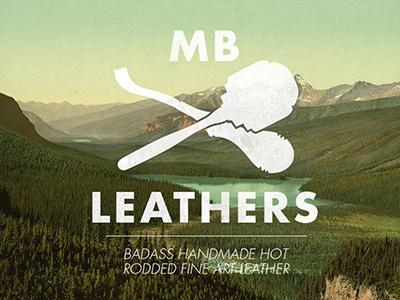 Leather logo hipster vintage white logo tools