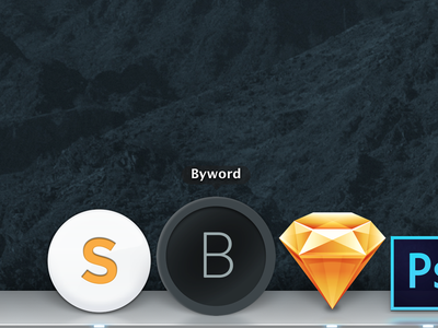 Byword Icon v2 app icon byword flat geometric gray