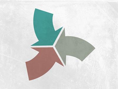 Logo option arrow shapes geometric logo