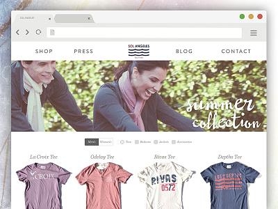 Shopping page layout option ecommerce website layout web