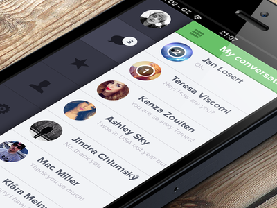 Whatsapp flat redesign whatsapp application flat app iphone redesign green chat ios iphone5 ui