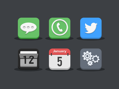 Flat icons flat ios icons iphone ipad apple