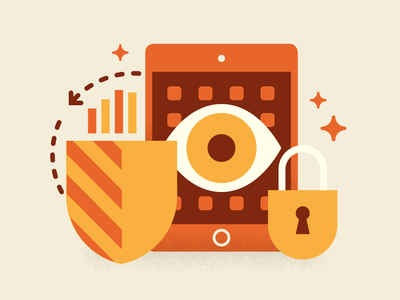 IT in Education – Safeguarding vector illustrator illustration geometric email banner education design corporate
