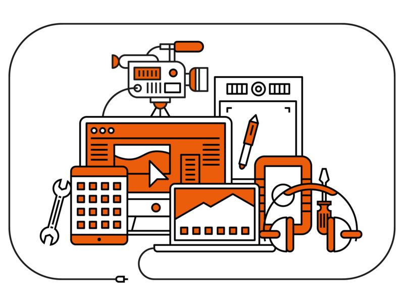 Creative IT vector illustrator illustration geometric design corporate