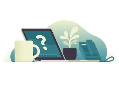 Mac for Business enterprise desk business mac pastel gradient design corporate geometric illustrator vector illustration
