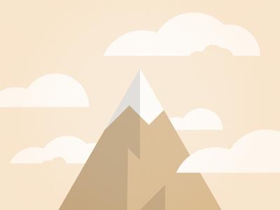Mountain Top sky cloud mountain pastel geometric vector illustrator illustration design