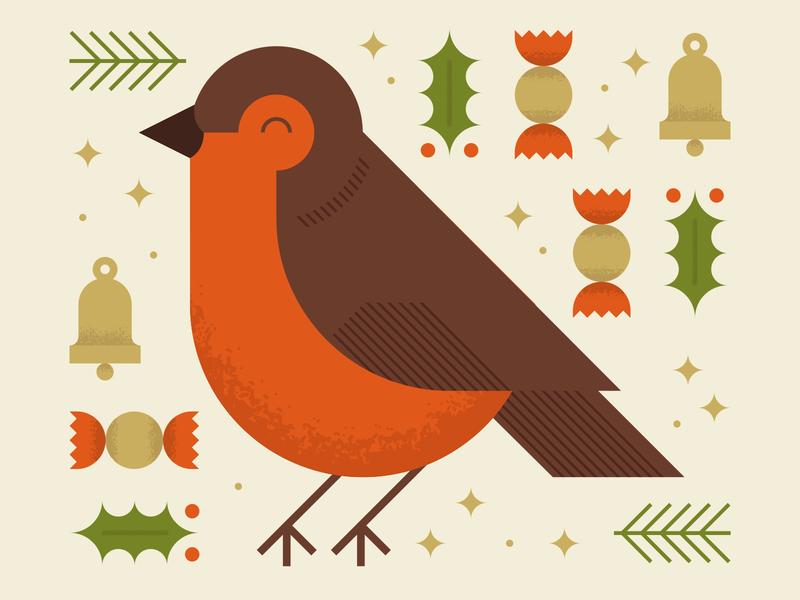 Too soon? adobe robin christmas card christmas pastel geometric vector illustrator illustration design