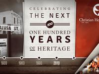 100 Year Anniversary Building Buildboard