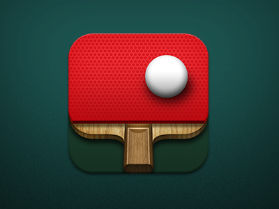 Ping Pong App Icon app icon paddle skeumorphic red ping pong