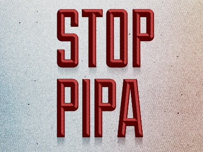 Stop Pipa & Sopa - Rebound To Save Freedom of Speech pipa sopa texture red freedom speech rebound protest