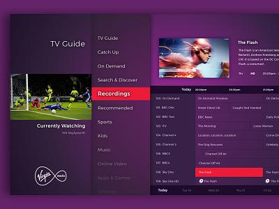 Virgin Media Redesign design uiux virgin redesign tv app