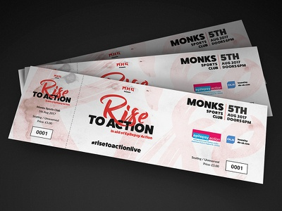 Rise To Action epilepsy charity design tickets