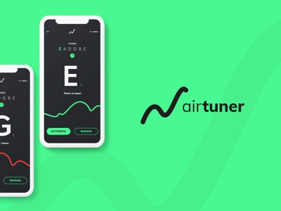 Air Tuner logo ui design ui
