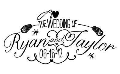 wedding logo design by Sarah Axelson - Dribbble