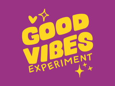 Logo Animation | Good Vibes Experiment wellbeing mental health playful book mystical quirky promotional illustration science carnival fun event campaign print collateral branding logo motion graphics graphic design animation
