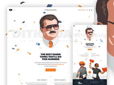 Unused Hero layout ui web design parallax hero type funky