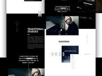 Ludovico Content layout music ui web design parallax content type
