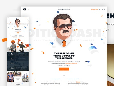 Unused Full funky type hero parallax design web ui layout