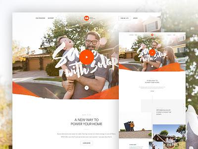 GO Sneak Peek solar go type hero parallax design web ui layout