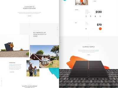 GO Content Sneak Peek layout ui web design parallax hero type go solar