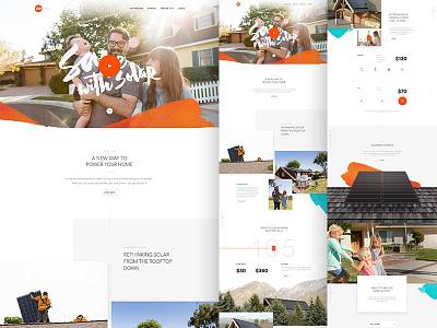 GO Full solar go type hero parallax design web ui layout