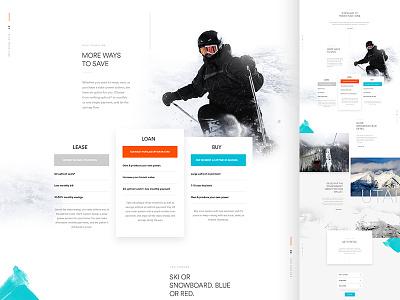 GO Utah Sneak layout ui web design parallax hero type go solar