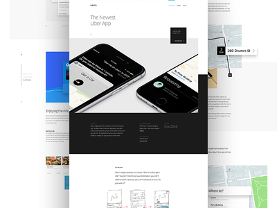 Uber Design Case study case study layout ui web design parallax hero type uber