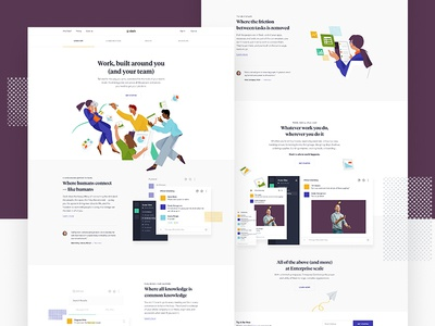 Why Slack? landing app layout ui web design parallax hero type slack