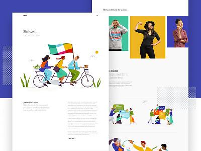 Slack Casestudy landing app motion layout ui web design parallax hero type slack