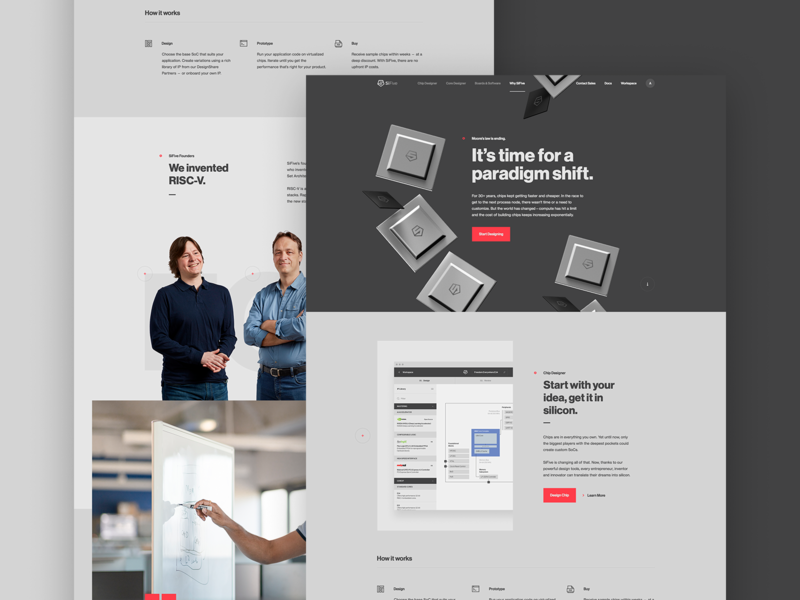 Why SiFive ux typography app layout type parallax hero ui web design