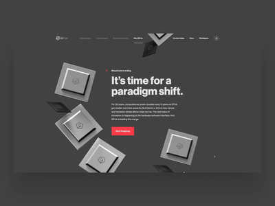 Why SiFive Motion Study content ux typography layout type parallax hero ui web design