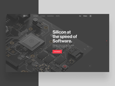 SiFive Page Transitions motion typography layout type parallax hero ui web design