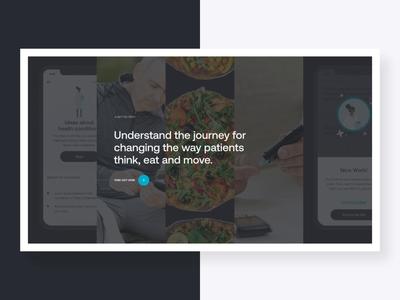 Patient Journey motion modal typography layout type parallax hero ui web design