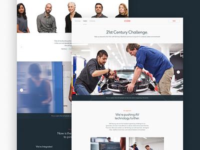 Cruise Careers website careers team content motion typography header layout type parallax hero ui web design