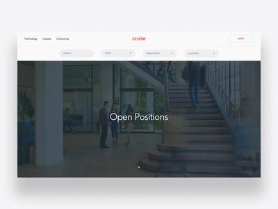 Cruise Listing website motion typography layout type parallax hero ui web design