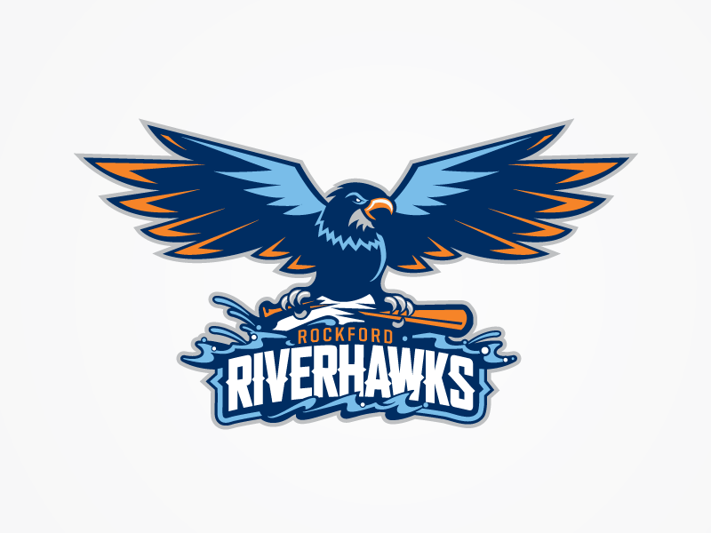 cheap for discount e9e8e e2f4d RiverHawks branding logo river hawk bird baseball rockford