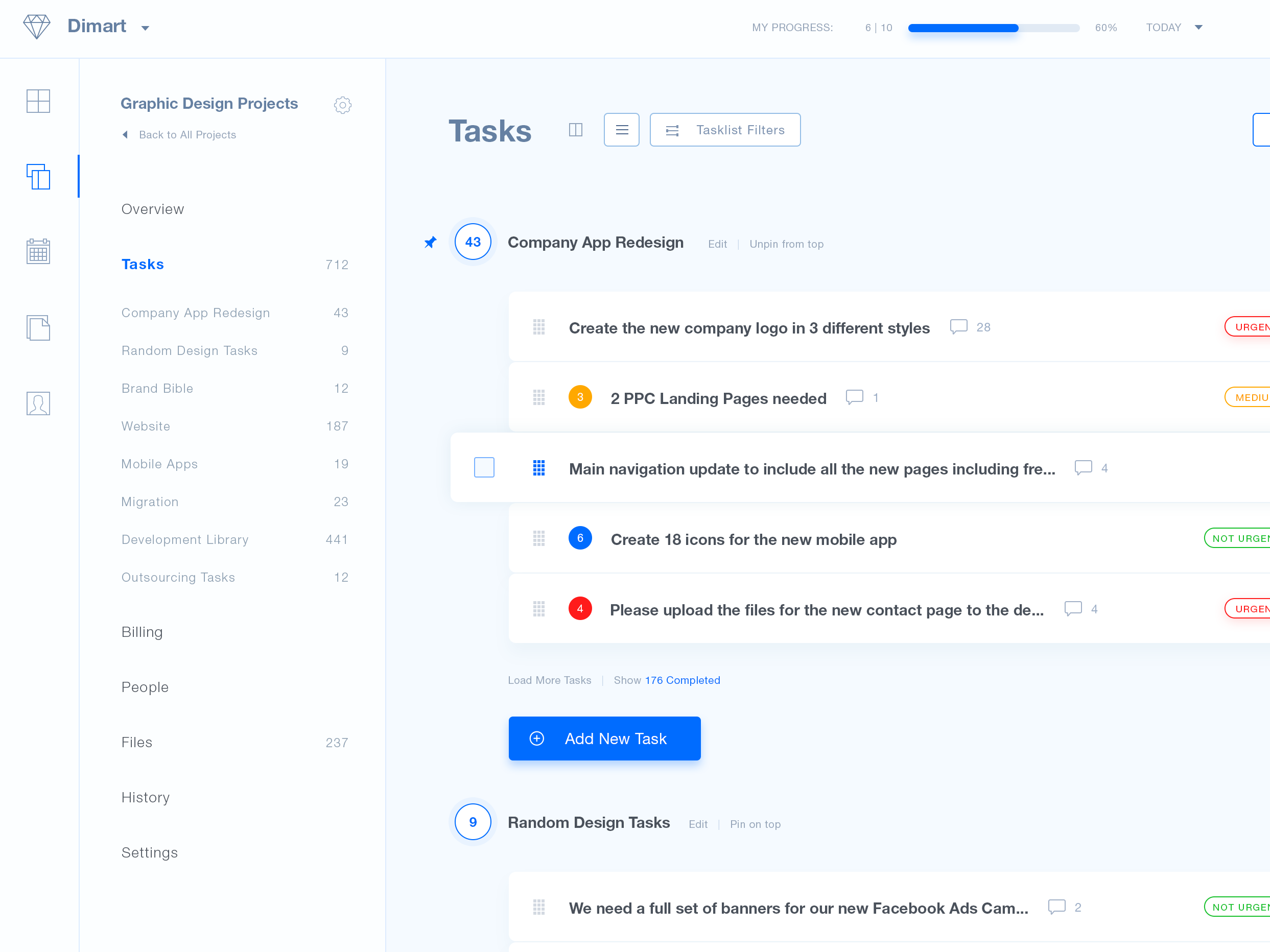 Tasks screen retina