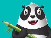 Draw Panda character
