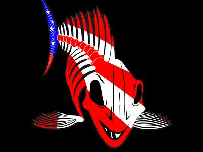 Eye catching design design illistration logo creative design illustration image to vector redraw vector art fishing logo fish merch by amazon typography boat custom t shirt design