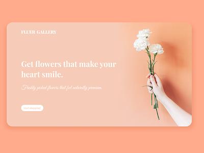 Fleur Gallery typography ui