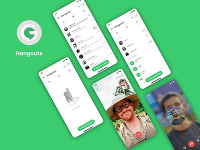 Google Hangouts UI redesign google hangouts design ui typography
