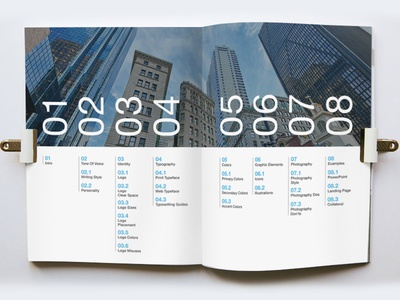 brand style guide table of contents by brittany loar dribbble rh dribbble com brand style guide contents hmi style guide contents