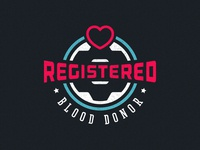 Registered Blood Donor Badge